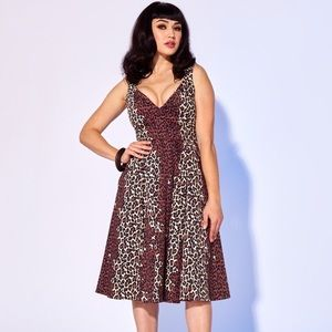Pinup girl leopard dress NWT Small